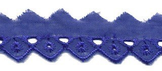 broderie smal, blauw