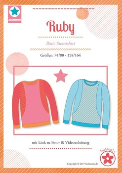 Ruby, basic shirt in de maten 74/80 - 158/164 : introductiekorting