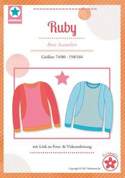 Ruby, basic shirt in de maten 74/80 - 158/164 : introductiekorting