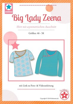 Big Lady Ruby, patroon van een shirt van MiaLuna (introductiekorting)