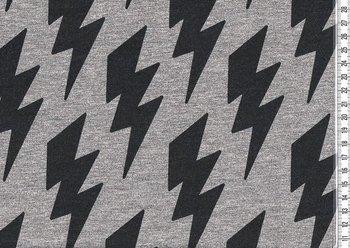 Bielefeld: dikkere wintertricot met blimksenschichten zwart/grijs
