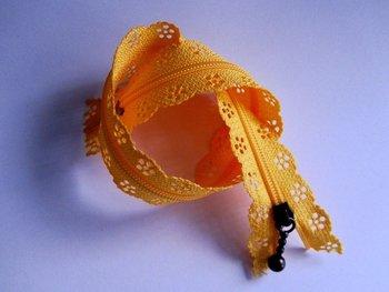 rits met kanten rand 30 cm, oranje