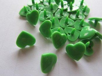 snaps lentegroen glanzend hartje, kleur 14