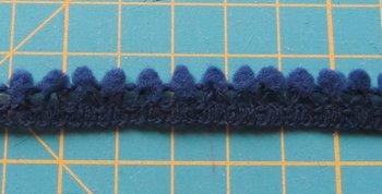 minibolletjesband, donkerblauw