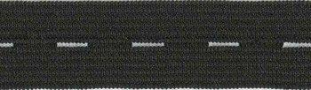 knoopsgatenelastiek zwart 1,8 cm