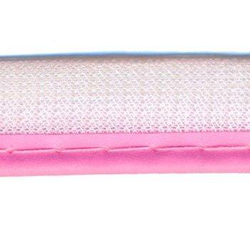 reflecterend paspelband roze