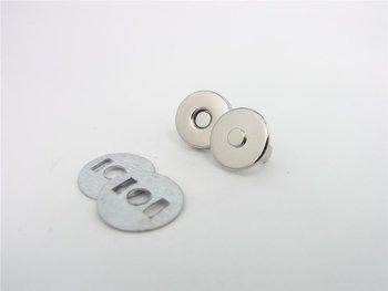 magneetsluiting 14mm zilverkleurig superdun!