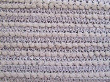 minibolletjesband, greige: tussen grijs en beige