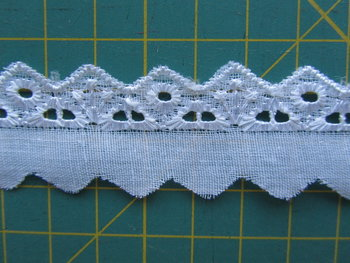 broderie smal, wit