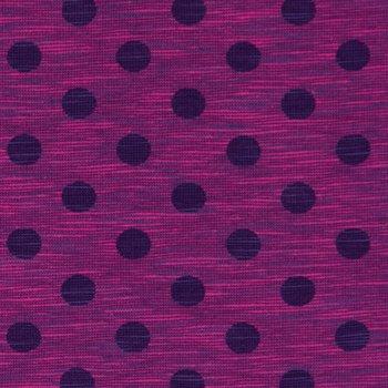 Nadine: tricot fuchsia-paars  gemêleerd met donkerpaarse noppen