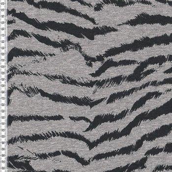 Bielefeld: dikkere wintertricot met zebraprint zwart/grijs