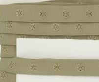 drukkertjesband licht legergroen: afstand 2,5 cm: HALVE meter