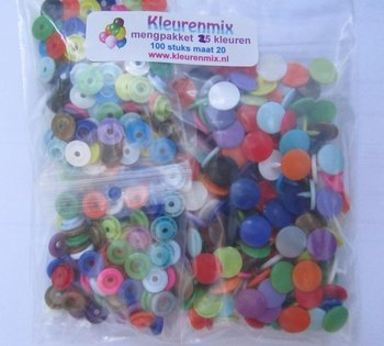 kleurenpakket maat 20/100 stuks, ongesorteerd