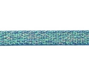 oud blauw elastiek met glitterdraad