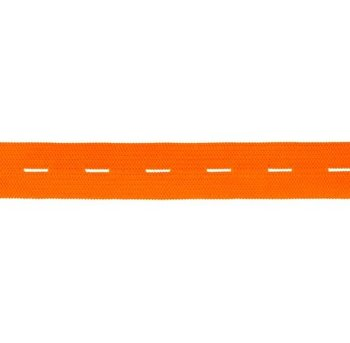 knoopsgatenelastiek oranje 1,8 cm breed