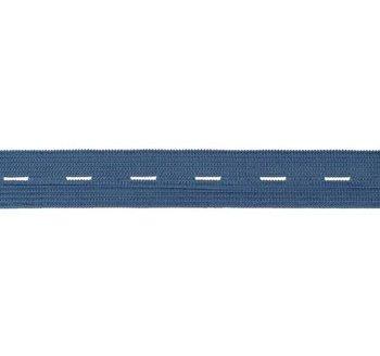 knoopsgatenelastiek blauw 1,8 cm breed