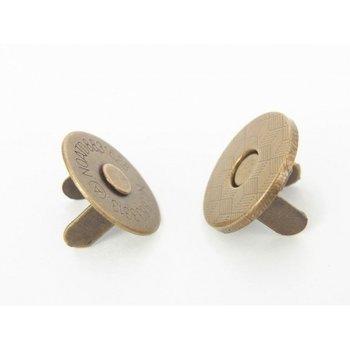 magneetsluiting 18mm bronskleurig superdun!!