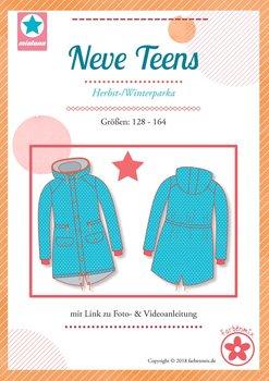 NEVE Teens, een parka voor herfst en winter maat 128 t-m 164