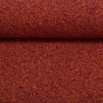 Vera, spikkeltjestricot, paars op oranje, van verder weg lijkt het rood