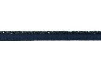 paspelband  lurex diepdonkerblauw/marine