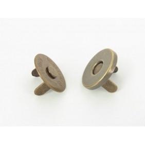 magneetsluiting 14mm bronskleurig superdun!