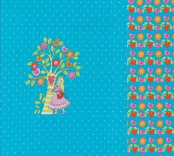 Tricot van Steinbeck: wonderboom met meisje: paneel van een halve meter