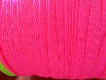 0,6 cm elastiek neonroze