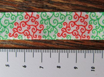 omvouwelastiek kringeltje rood/groen