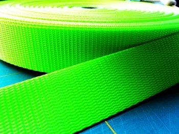 tassenband 3 !!! cm breed, neon geel/groen