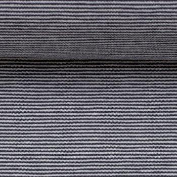 Bella: heerlijk zachte strepentricot diepdonkerblauw/wit