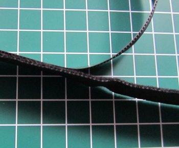 heel dun zacht en soepel klittenband 2 cm breed /zwart