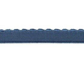 elastiek met schulprandje 12 mm breed, jeansblauw