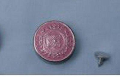 25 mm jeansknoop van Bonny Bee/ roze