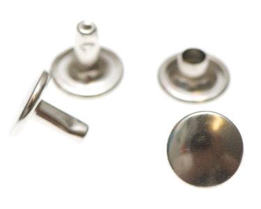 Holniet met dubbele kop: 9 mm zilverkleurig 10 stuks