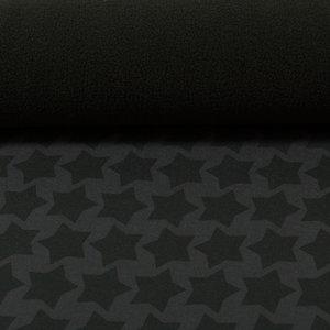 Blackstaaars softshell: zwarte sterren op donkergrijs