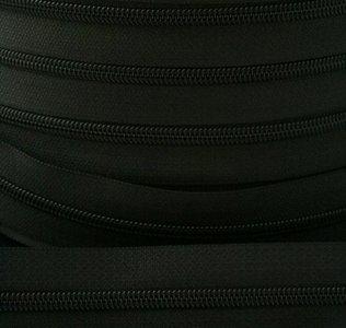 rits aan de meter, zwart 4mm
