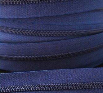 rits aan de meter, jeansblauw 4mm