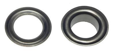 Zeilring/nestel 14 mm oud zilverkleurig