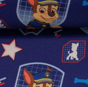 PAW PATROL **NANO SOFTSHELL**: badges van Chase op donkerblauw