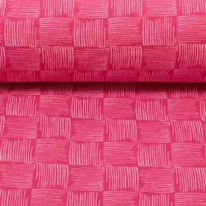 Rick, warme wintertricot blokjes gevuld met strepen: roze/lichtroze