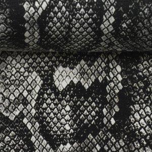 Boris, french terry slangenprint zwart/wit