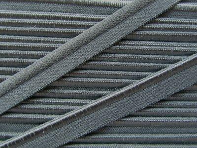 elastisch paspelband, grijs