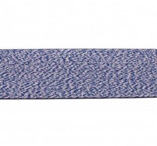 taille-elastiek 4 cm breed: jeansblauw gemêleerd / HALVE METER