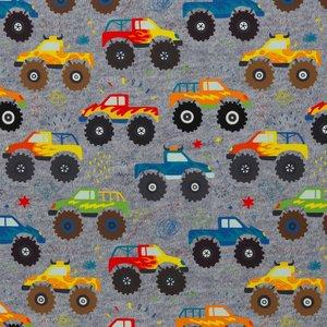 "Fiete softshell: Monstertrucks op ""gebreide jeanskleur"""