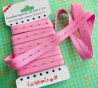 knoopsgatenelastiek roze