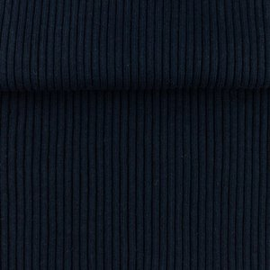 boordstof donkerblauw rib