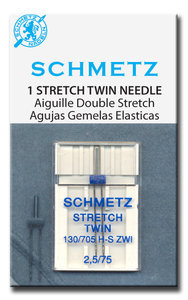 Schmetz stretch twin 2,5 /75