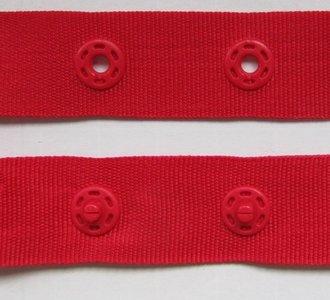 drukkertjesband rood: afstand 2,5 cm: HALVE meter