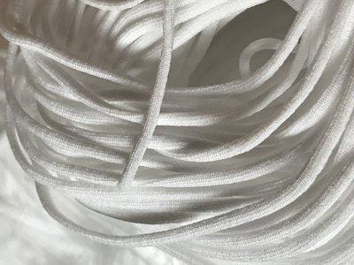 elastiek 3 mm wit, heerlijk zacht en rekt enorm goed!