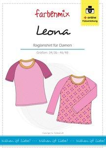Leona, raglanshirt voor dames in de maten 34/36 tot/met 46/48